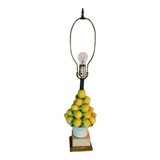 Vintage Italian Majolica Lemon Topiary Lamp