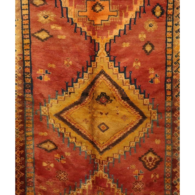 "Boho Chic Taznakht Moroccan Rug, 5'1"" X 8'2"" Feet For Sale - Image 3 of 6"