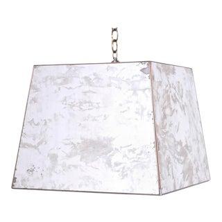 Midcentury Marbleized Mirror Pendant or Light Fixture For Sale