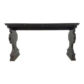 Transitional Hickory Chair 17th Century Italian Console Table For Sale