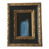Image of Abstract Black and Blue Painting by Kimberly Moore For Sale