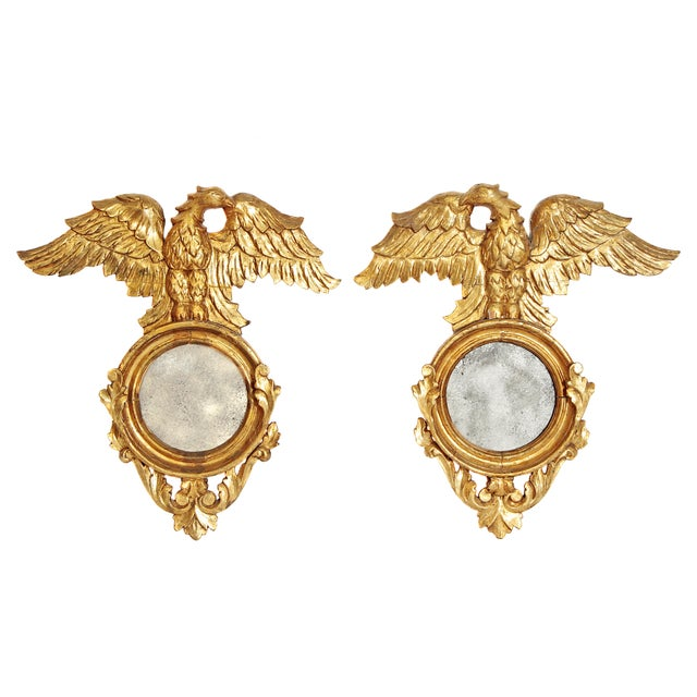 Pair of Giltwood Mirrors With Eagles, Wings Outstretched For Sale - Image 13 of 13
