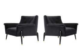 Image of Dark Gray Accent Chairs