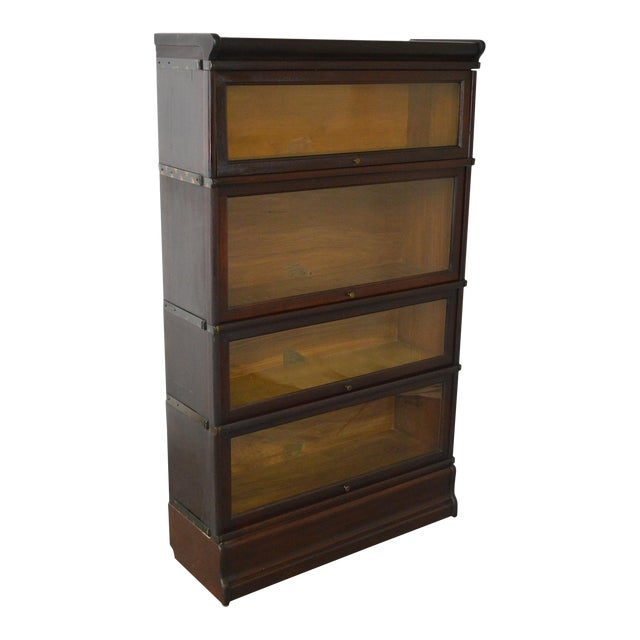 Globe Wernicke Antique Mahogany 4 Section Barristers Stacking Bookcase - Image 1 of 13
