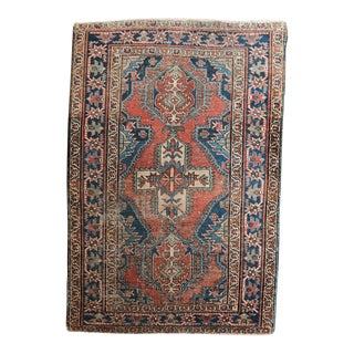 1920s Antique Persian Karaja Rug- 3′2″ × 4′8″ For Sale