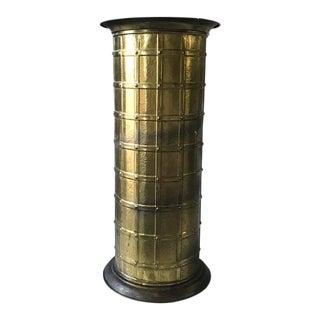 Vintage Brass Umbrella Stand, Vase, Made in England For Sale