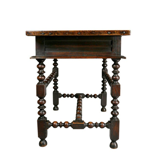 Charles II Oak Tavern Table For Sale - Image 9 of 12
