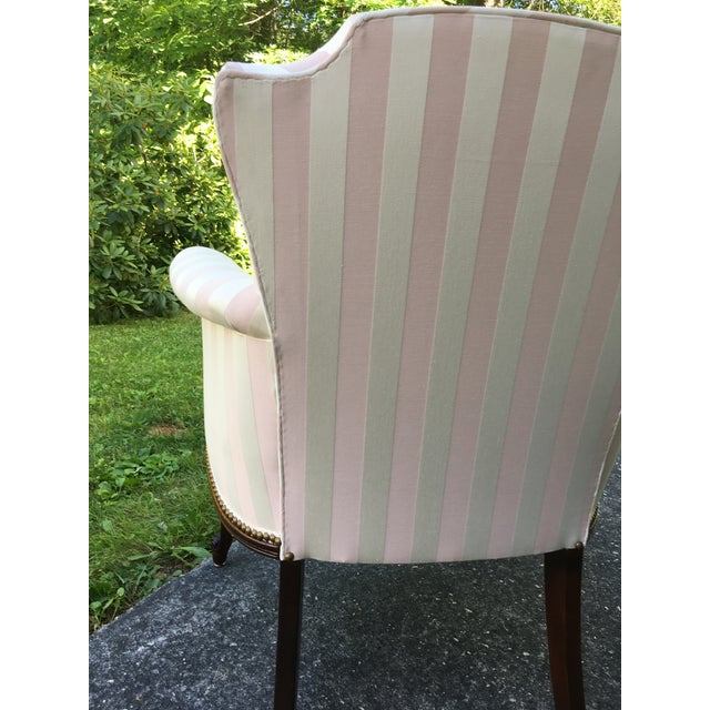 Late 20th Century Striped Perfection Chair For Sale In Boston - Image 6 of 13