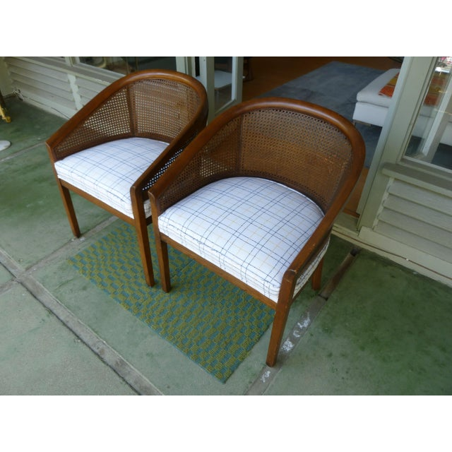 Mid-Century Cane Chairs - A Pair For Sale In Los Angeles - Image 6 of 7