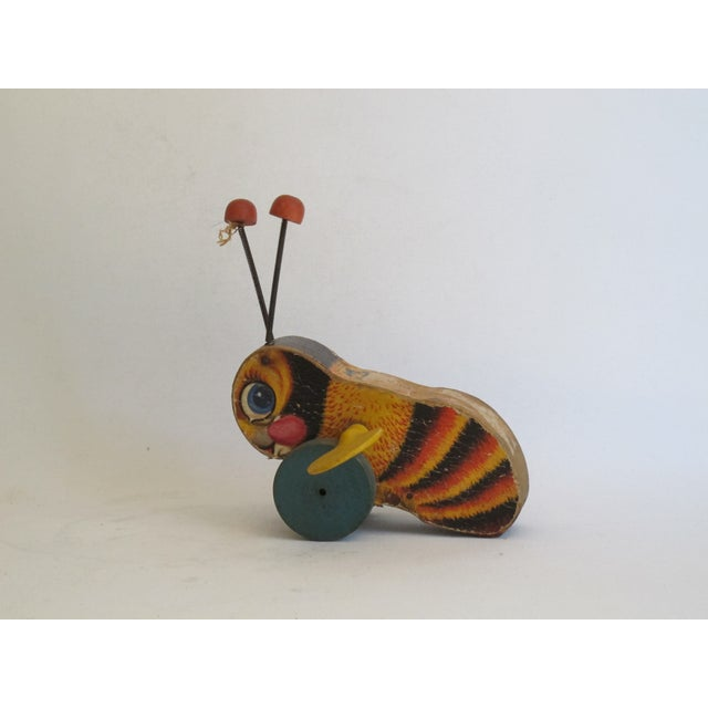 """Antique """"Buzzy Bee"""" Pull Toy For Sale - Image 5 of 6"""