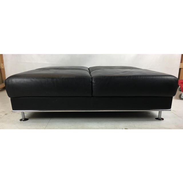 1990s Huge Leather Ottoman by Matteograssi, Italy For Sale - Image 5 of 8