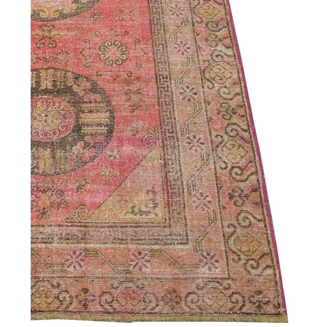 Antique Handmade Samarkand Rug 12'x5'8ft, Ca1900s, Handmade and Hand-Knotted, It's a Wool Rug With a Cotton Foundation.