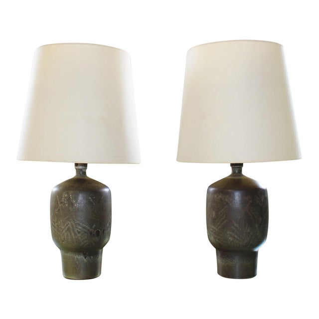 Large Pair of Design Technics Table Lamps by Lee Rosen For Sale
