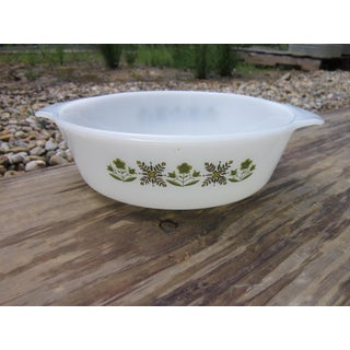 Fire King Meadow Green Casserole Dish Preview