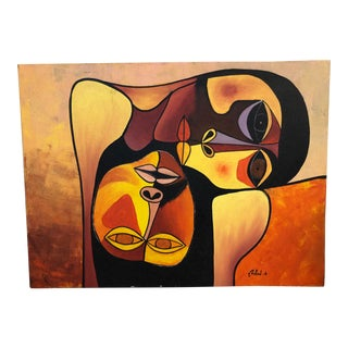 Cubist Expressionist Painting by Rafael For Sale