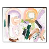 """Image of Original Abstract Painting by Jen Ramos, """"Pistol & Jewels 1"""" For Sale"""