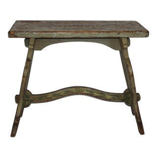 Rustic Hand Painted Trestle Table