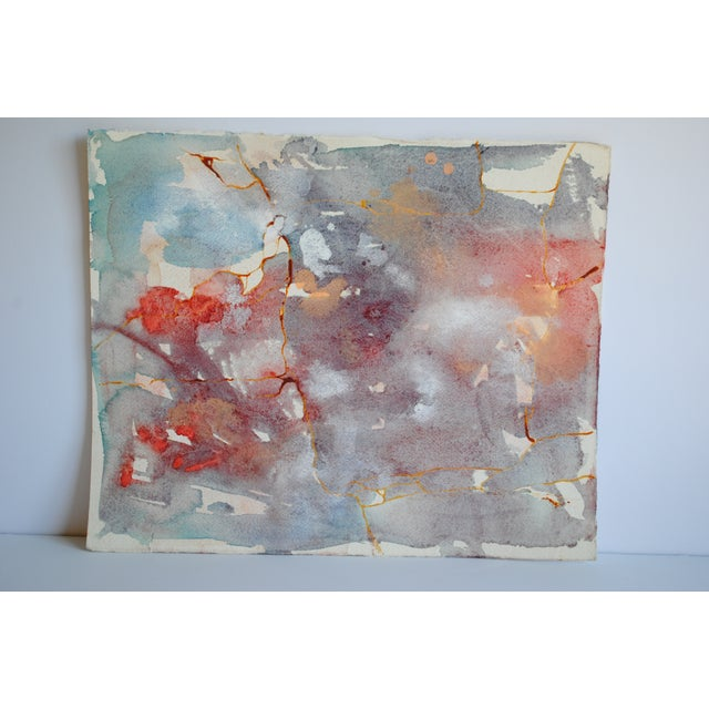 Vintage Watercolor Abstract - Image 2 of 5