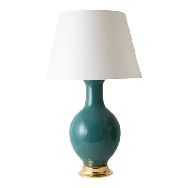 """Paul Schneider Ceramic """"Presidio"""" Lamp in Glossy Glaze For Sale"""