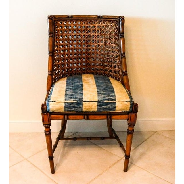 McGuire Style Octagonal Rattan Dining Set - Image 9 of 10