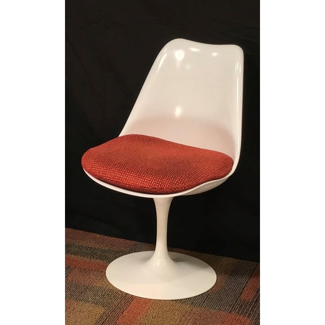 1950s Eero Saarinen Oval Dining Table & Swivel Chairs - 5 Pieces. Mid-Century, Knoll For Sale - Image 5 of 12