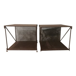 Restoration Hardware 1920s French Metal Side Tables - A Pair