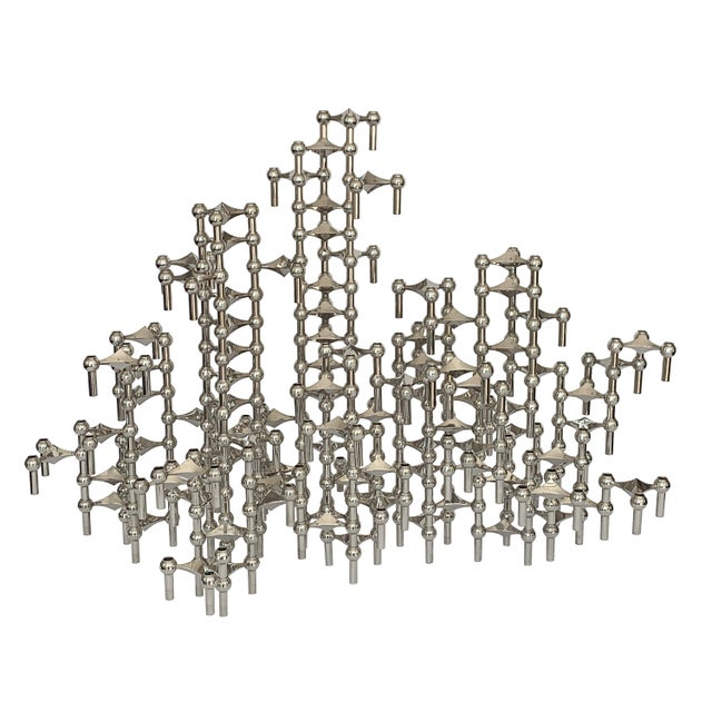 Set of 100 Piece Modular Candlestick Sculpture by Fritz Nagel and Caesar Stoffi For Sale - Image 11 of 11