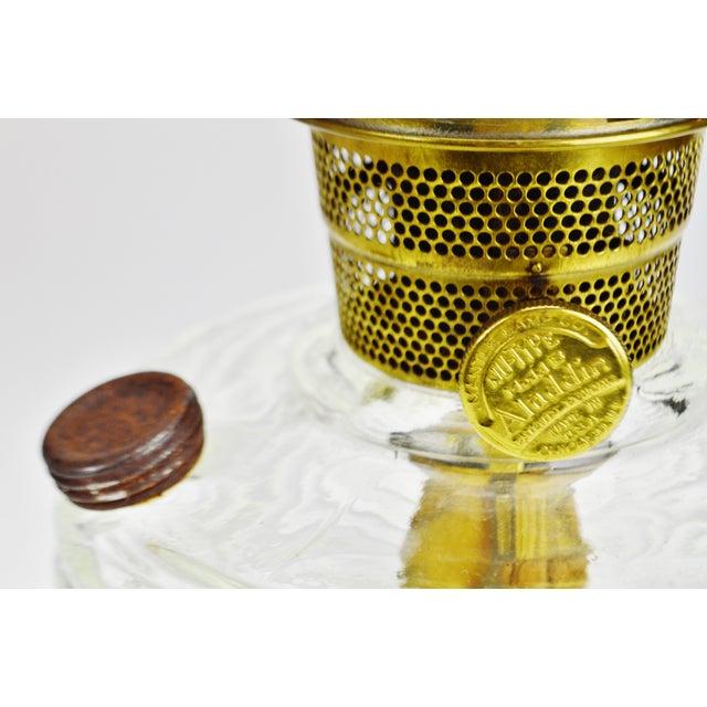 Gold Vintage Washington Drape Aladdin Oil Lamp For Sale - Image 8 of 12