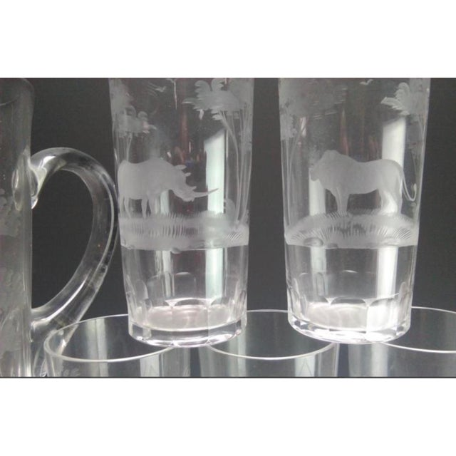 Rowland Ward, Moser and Queen's Lace Crystal are legendary creators of glassware engraved with the figures of African...