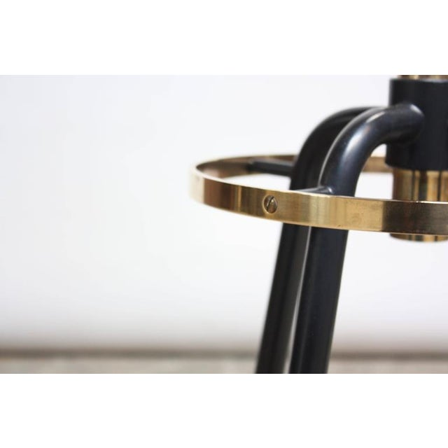 Mid-Century Italian Modern Brass Swivelling Coat Rack - Image 5 of 11