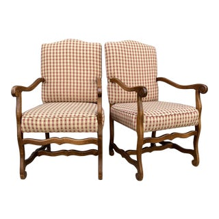Traditional Lee Industries Host Arm Chairs - a Pair For Sale