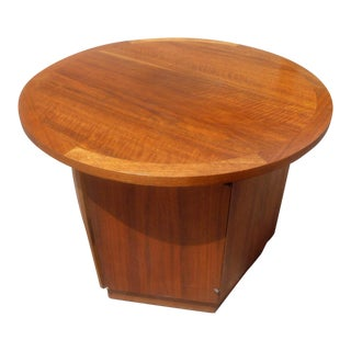 Vintage Lane Mid-Century Modern Minimalist Teak End Table For Sale