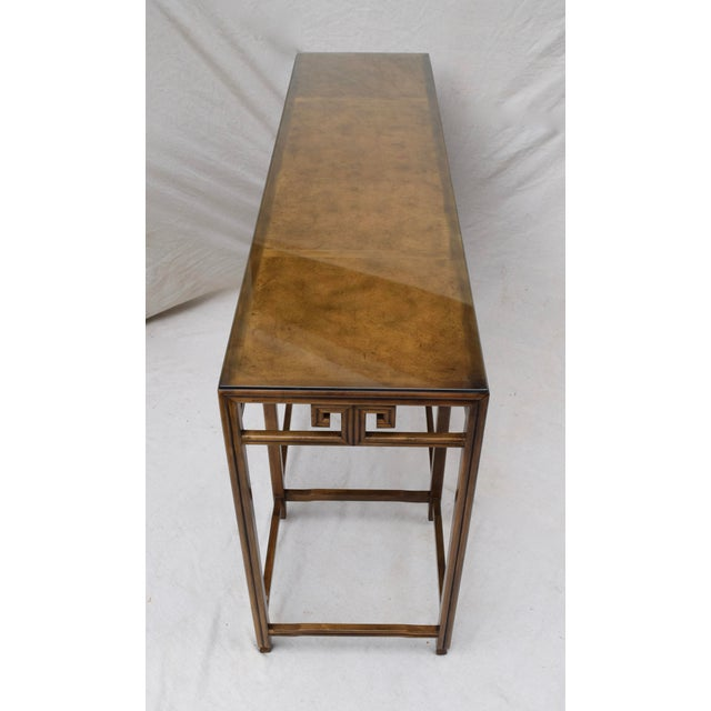 """Baker Burlwood Console Table, """"Far East"""" Collection"""" For Sale - Image 11 of 13"""
