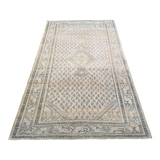 Vintage Hand-Knotted Persian Melayer Rug For Sale