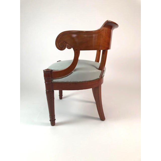 Auburn 19th Century French Empire Period Mahogany Armchair For Sale - Image 8 of 12