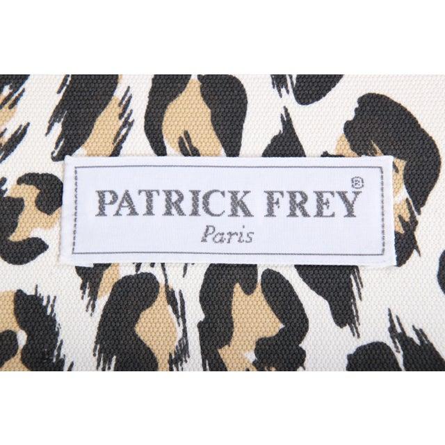 Patrick Frey X-Base Leopard Stool or Ottoman, Paris For Sale - Image 12 of 13