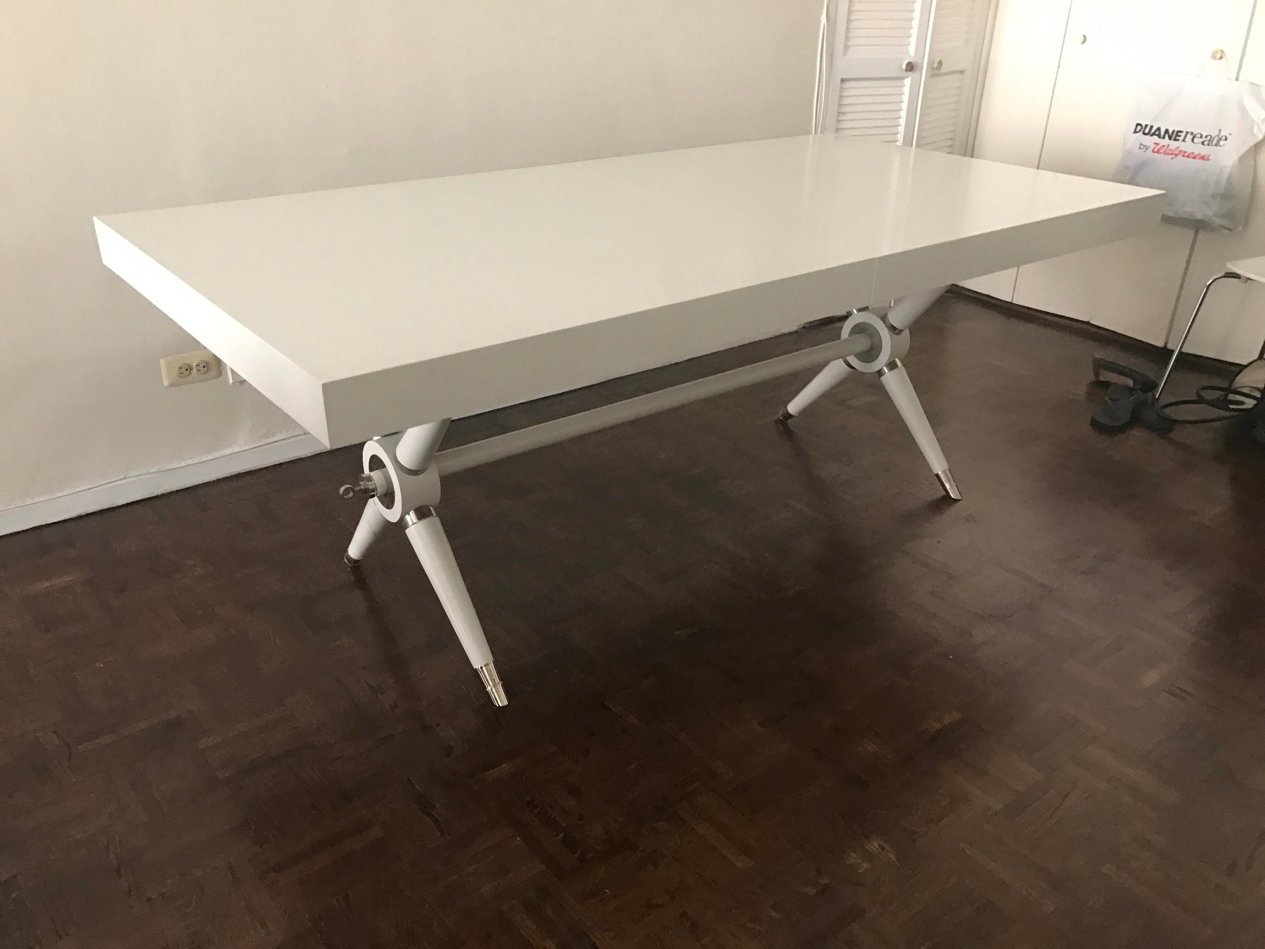 Jonathan Adler White Ventana Dining Table