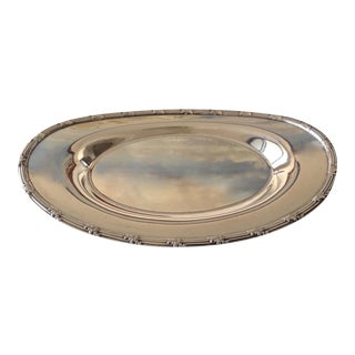 English Victorian Silver Plate Server, Bread Dish For Sale