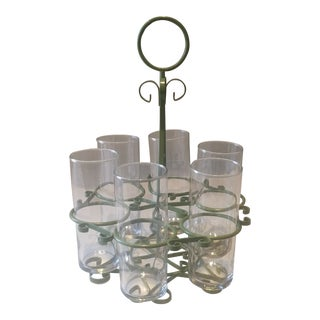Glasses With Caddy - Set of 6