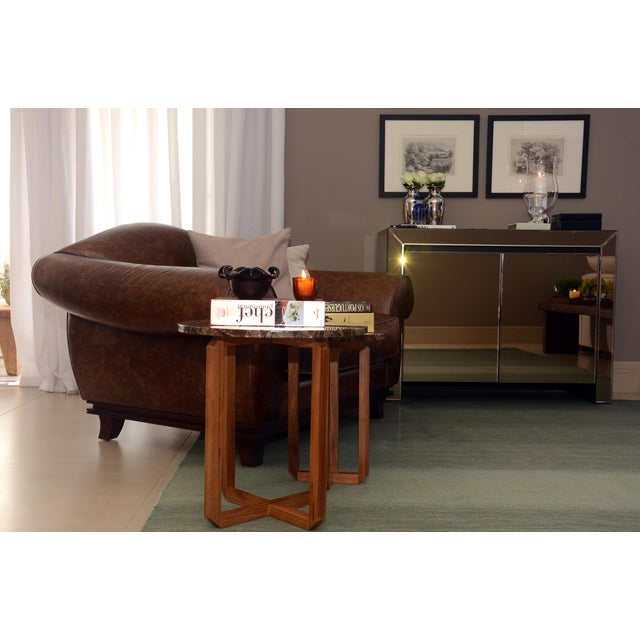 "Contemporary Kilim Fields Degrade Salvia Rug - 8'3"" x 11'4"" For Sale - Image 3 of 4"