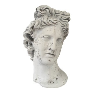Weathered Greek Bust Head Planter