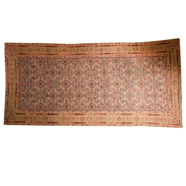 "Antique Distressed Malayer Rug Runner - 6'5"" X 12'8"" For Sale"