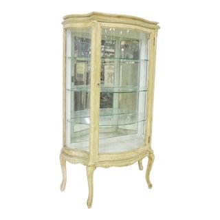 Louis XV Serpentine Glass Cream Curio For Sale