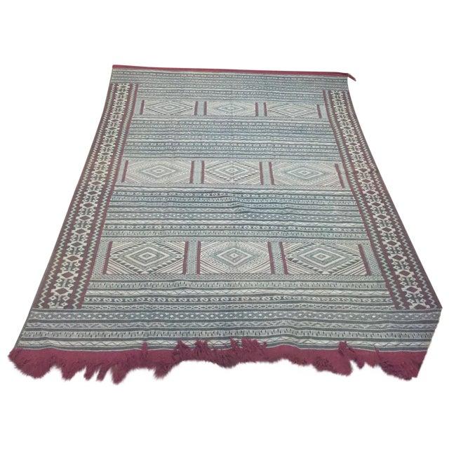 Moroccan Flatweave Kilim - 6′ × 8′2″ - Image 1 of 7