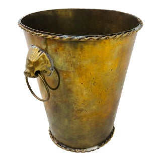 Vintage Brass Cache Pot For Sale