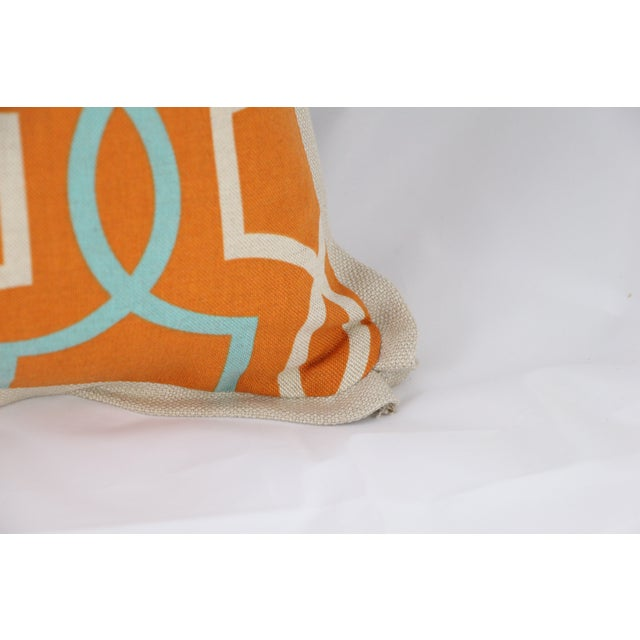 Orange Casey Linen Pillow - Image 4 of 7