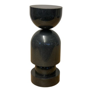 Contemporary Black Marble Pillar For Sale