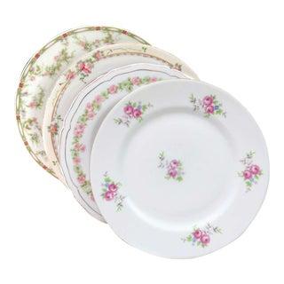 Vintage Mismatched Fine China Salad Plates - Set of 4