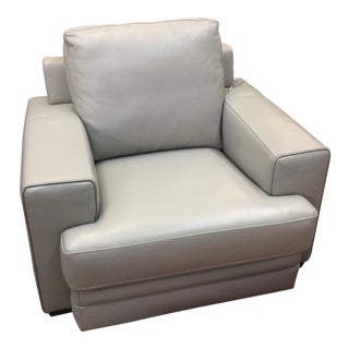 Modern Leather Traditional Chair For Sale
