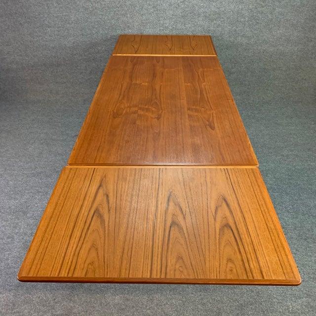 Brown 1960s Scandinavian Modern Teak Draw Leaf Dining Table For Sale - Image 8 of 11